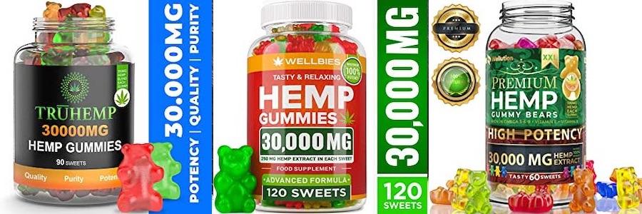 アメリカで販売されている高濃度のCBD gummies1