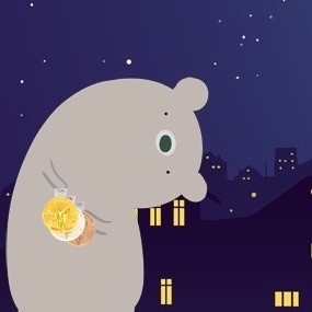 金メダルを持ったクマのイラスト