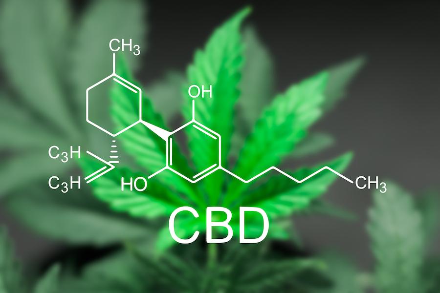 化学式と麻の葉の写真