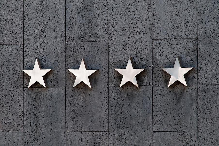 四つ星のイラスト